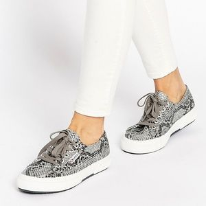Superga Cotsnakew Snake Print Fashion Low Sneaker